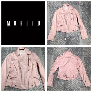 ❗️NEW❗️ Mohito Light pink moto biker jacket size S